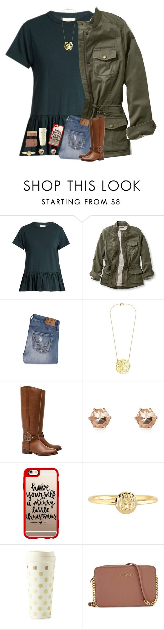 """ITS ALMOST CHRISTMAS HXMSNXJSNAKXJDJ"" by morganmestan ❤ liked on Polyvore featuring The Great, L.L.Bean, Hollister Co., Tory Burch, River Island, Casetify, Mark & Graham, Kate Spade, Michael Kors and Estée Lauder"