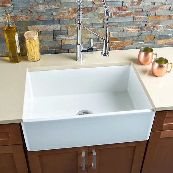 Hahn Kitchen Sinks : HAHN? - FireClay Series Large Single Farmhouse Kitchen Sink