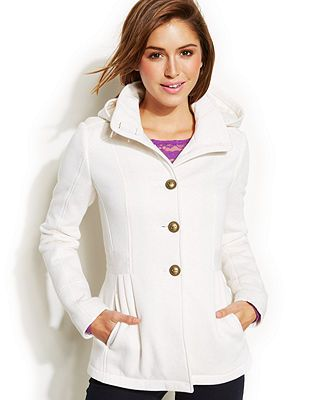 Celebrity Pink Single-Breasted Hooded Fleece Coat | Winter Clothes