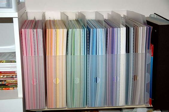 Vertical Paper Storage Use Clear File Folders To Organize