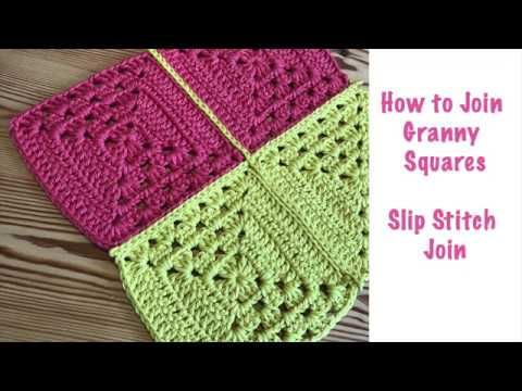 Blossom Crochet Join Granny Squares With The Invisible Slip Stitch Joining Granny Squares Granny Square Crochet Patterns Free Granny Square