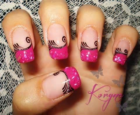 Image detail for -Pink Gradient Abstract Nails - ☆Nails☆ Picture