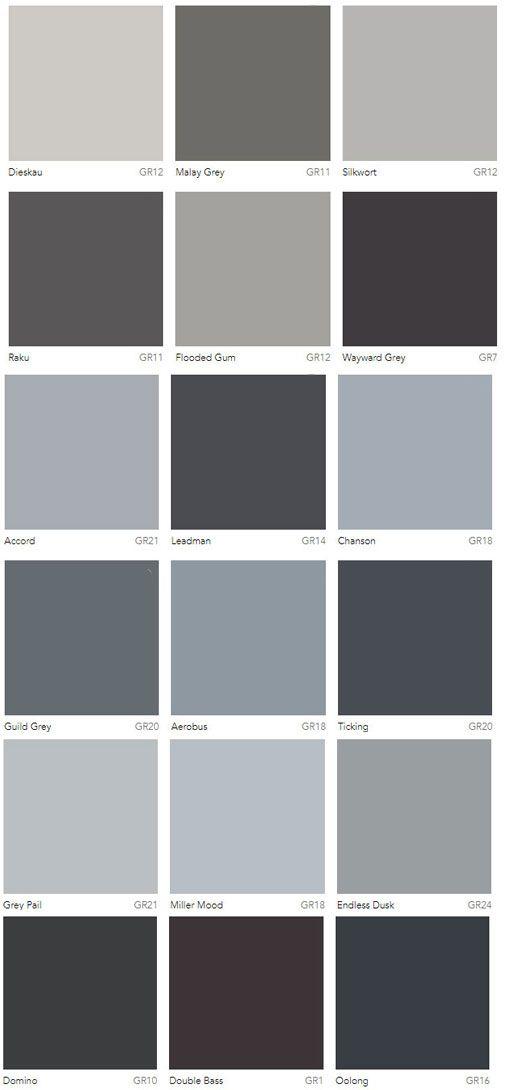 Grey Colour Charts Dulux Australia Exterior House Paint Color Combinations House Paint Exterior Exterior Paint Colors For House