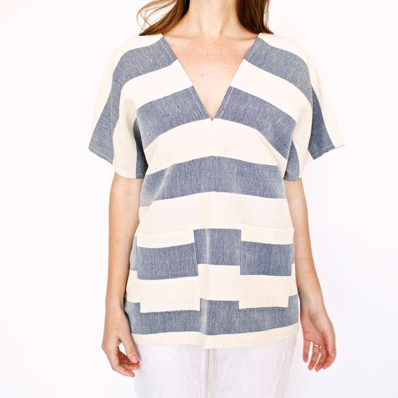 Blue Awning Striped Tunic