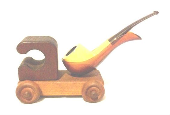 Vintage Handmade S&T Wood Crafts Figural Train by TheEklektikShop $49.99