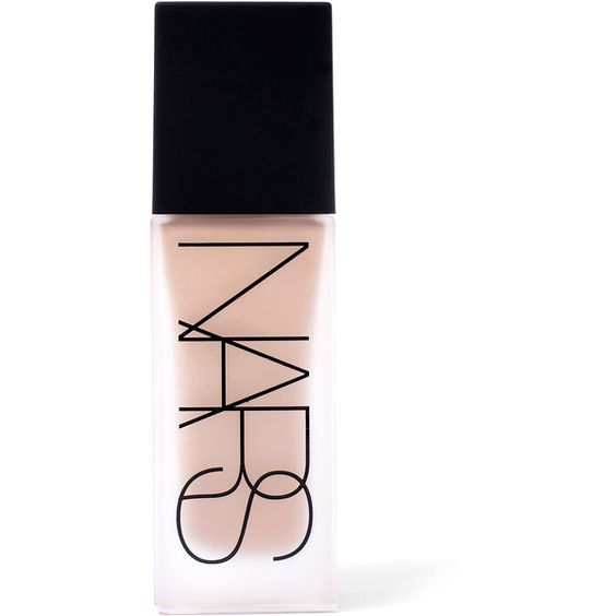 Nars All Day Luminous Foundation in Mont Blanc (€37) ❤ liked on Polyvore featuring beauty products, makeup, face makeup, foundation, beauty, fillers, cosmetics, nars, long wear foundation and long wearing foundation
