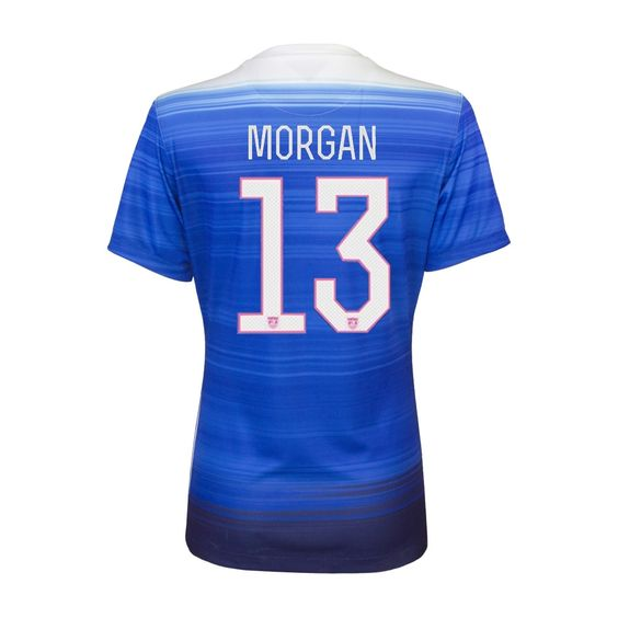 No doubt, one of the most popular soccer players on and off the field, Alex Morgan will use her speed and ability to burn the world in the Women's World Cup. Get the new Nike USA Away jersey today and cheer on Alex Morgan and the rest of the USWNT this summer. Order your Morgan soccer jersey today at SoccerCorner.com  http://www.soccercorner.com/Nike-Women-s-USA-2015-MORGAN-13-Away-Replica-Soc-p/ttwni640872-480-hero-morgan.htm