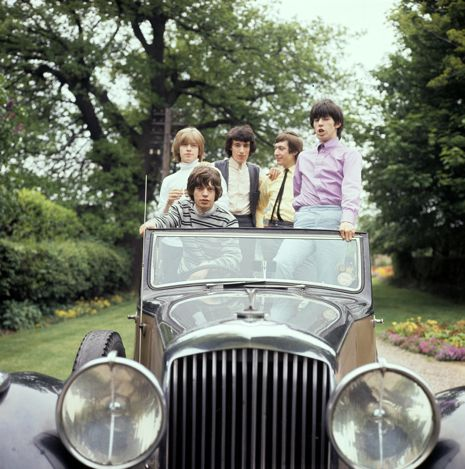 Brian Jones, Mick Jagger, Bill Wyman, Charlie Watts and Keith Richards. Photograph by Michael Ward/Getty.