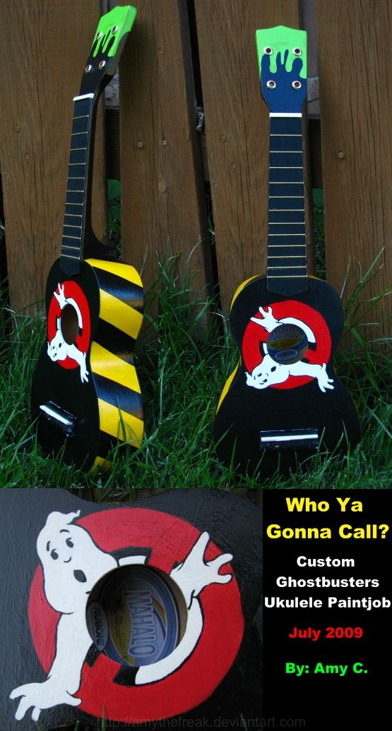 Ghostbusters Ukulele: Awsome Ukuleles, Ukulele Fun, Ghostbusters Alele, Ukulele Art, Ghostbusters Ukulele, Fun Ukulele, Ghostbusters 30, Guitar Ukulele, Ukulele 3
