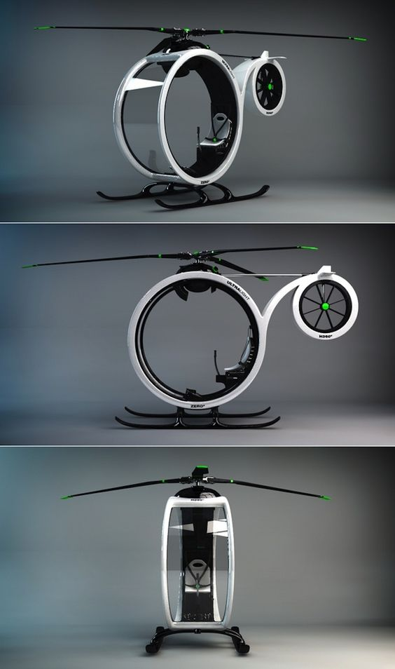 ZEROº Helicopter concept by Héctor del Amo: