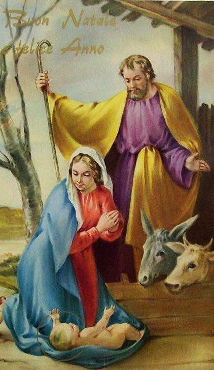 Holy Family in the manger