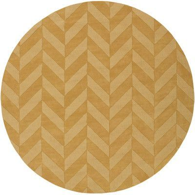 Found it at Wayfair - Central Park Yellow Chevron Carrie Area Rug