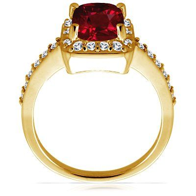 14K Yellow Gold Cushion Cut Ruby Ring With Sidestones (GIA Certificate) - See more at: http://jewelry.florentta.com/jewelry/rings/14k-yellow-gold-cushion-cut-ruby-ring-with-sidestones-gia-certificate-com/#sthash.YxT5XCRZ.dpuf
