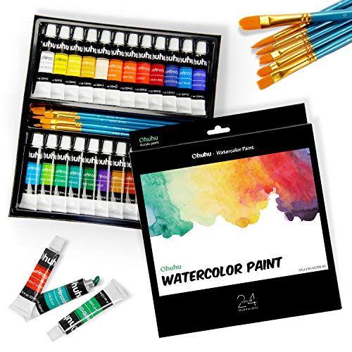 Vintage Marie S Watercolor Water Colour Paint Colour Set 18 Tube