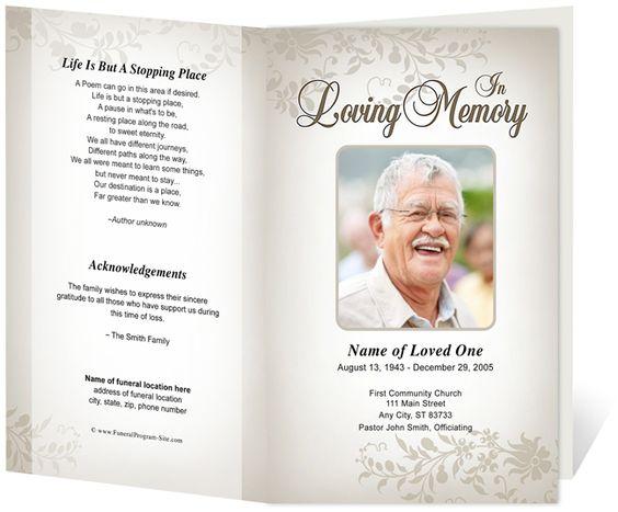 Ceasar Preprinted Title Letter Single Fold Program Funeral Bulletins