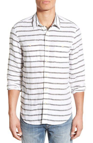 Lucky Brand Lucky Brand Stripe Woven Shirt available at #Nordstrom