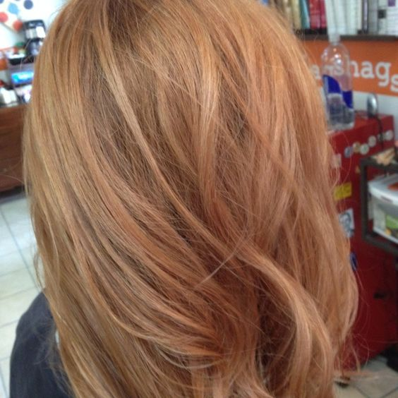 Strawberry Blonde Highlights. Add some warm blonde and this is exactly what I want!!