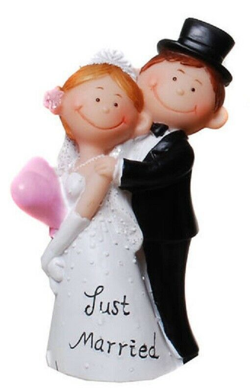 Dekofigur Hochzeit Figur Brautpaar Tortenfigur Geldgeschenk Just Married I Torten Figuren Tortenfiguren Brautpaar