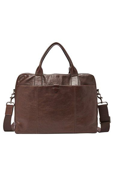 Free shipping and returns on Fossil 'Wyatt' Leather Work Bag at Nordstrom.com. Well-grained leather adds sleek sophistication to a handsome work bag tinged with polished hardware and built to stand up to the rigors of morning commutes or business trips.