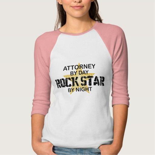 Attorney Rock Star by Night T Shirt, Hoodie Sweatshirt