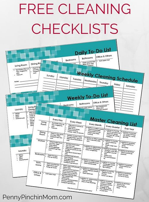 The Ultimate House Cleaning Checklist Printable PDF Get - weekly checklist