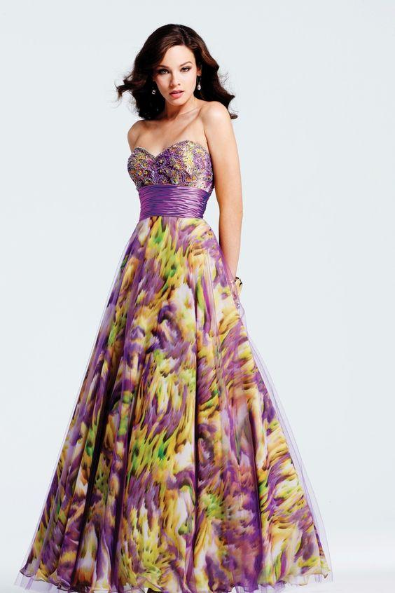 prom dresses - 2013 Prom Dress Trends - Printed Prom Dresses 2 ...