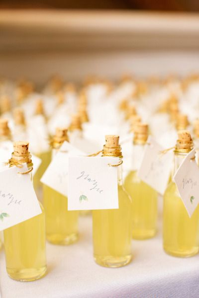 Limoncello favors: Photography: Olivia Leigh - http://olivialeighweddings.com/: