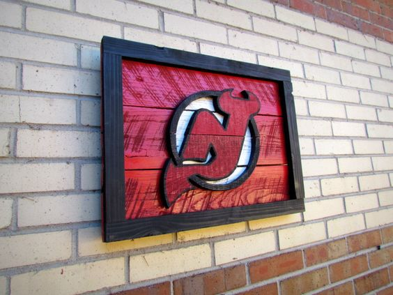 Handmade New Jersey Devils Logo Sign. $85.00, via Etsy.
