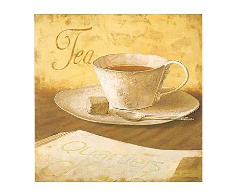 Galerie de Charme: Stampa su pannello mdf Tea - 18x18 cm