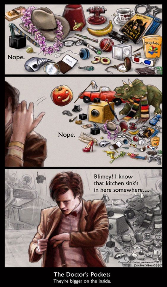 The Doctor's Pockets by Saimain on @DeviantArt