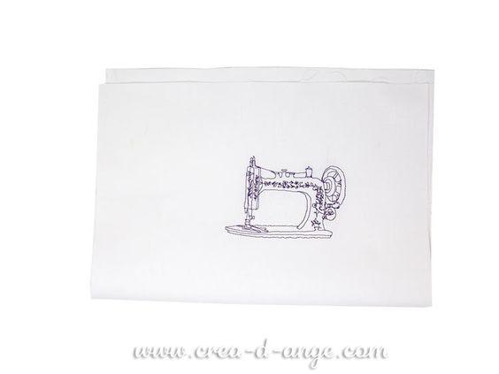 Coupons de tissus : Machine à coudre Motif créé par Créa d'Ange©