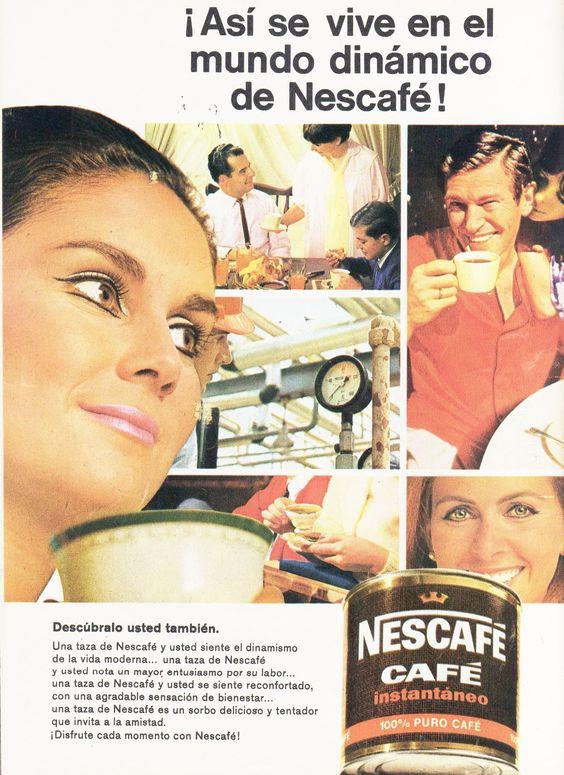 Cartel publicitario de Nescafé, Chile año 1970