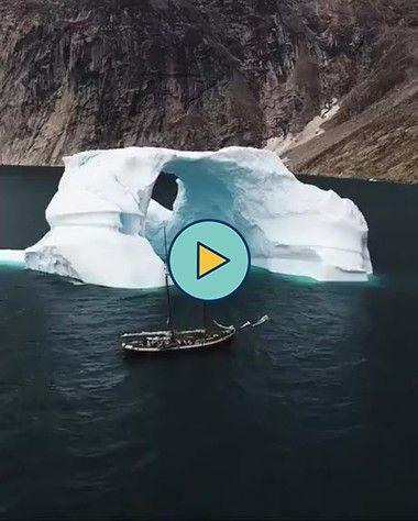 esta geleira derretida parecendo um arco…