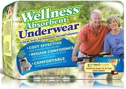 #New! Unique Wellness Absorbent Underwear, Xlg, 48 per case