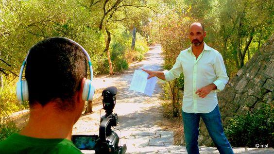 """Heitor Lourenço, budista, amigo e apoiante, grava video promocional do Projecto """"Um Templo para Monsanto"""".    Imagens captadas dia 13 de Setembro de 2012, à tarde, no Parque Florestal de Monsanto"""