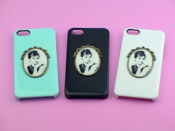 iphone 4 case,iphone 5 case--  Audrey Hepburn,  studded iphone 4 ,4S case in cross style