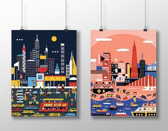 Geometric Cities by SCAD student Yao Yu