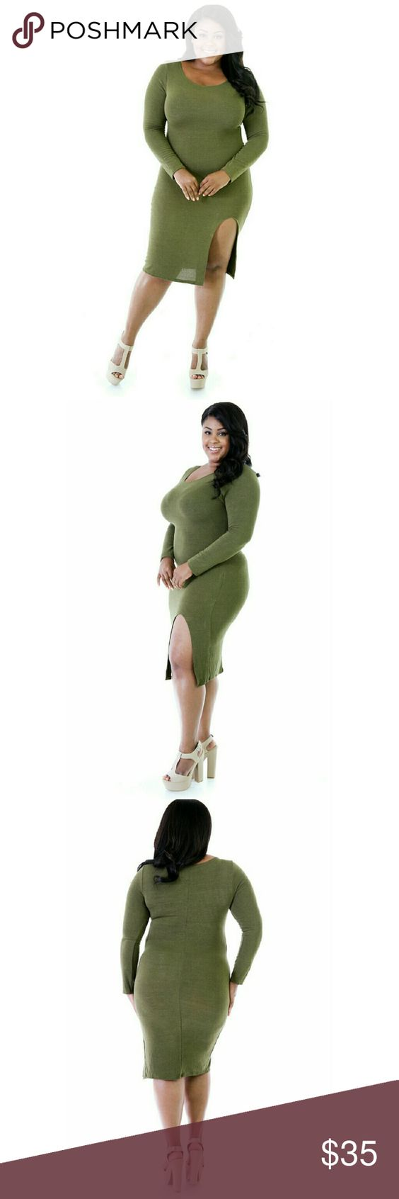 D plus size bodycon dresses and green dress on pinterest