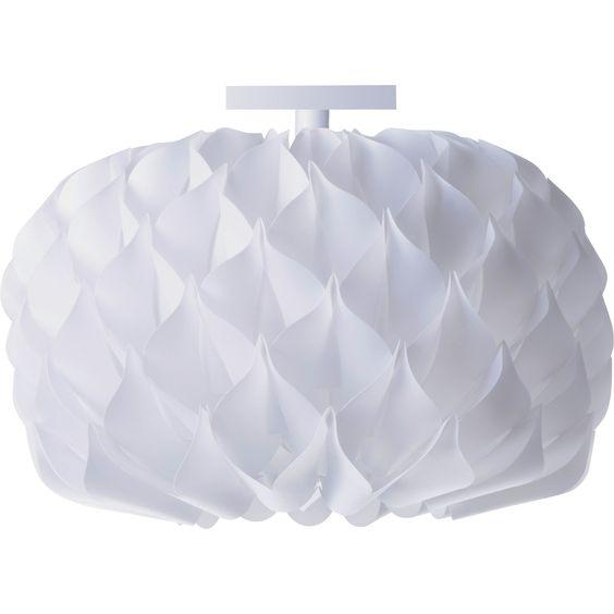 Plafonnier Boheme Polycarbonate Blanc Lussiol Iris D 42 Cm Polycarbonate Plafonnier Et Plafonnier Classique