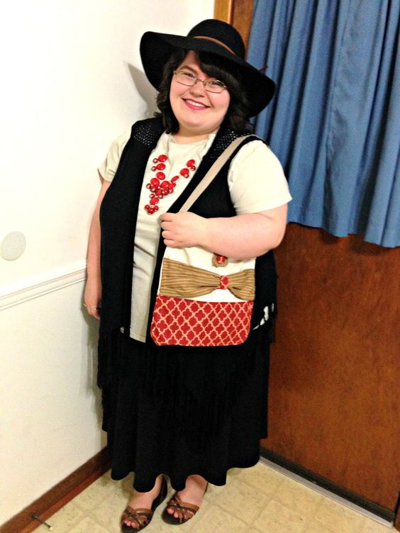 Unique Geek: Plus Size OOTD: Red & Brown:
