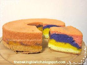 The Baking Biatch ♥: Rainbow Pandan Chiffon Cake