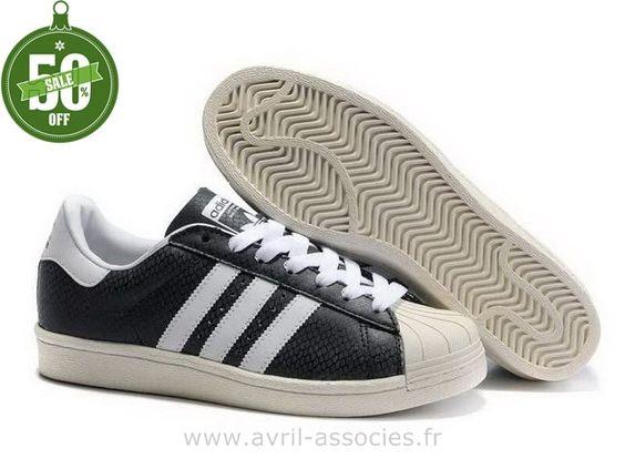 Superstar Adidas Femme Blanche Et Noir