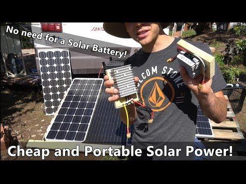 Solar Power W O A Battery Cheap And Ultra Portable System That Anyone Can Build Youtube Solar Solar Power Solar Energy