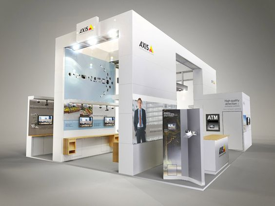 D Rendering Exhibition : Colour render for axis communications exhibition stand