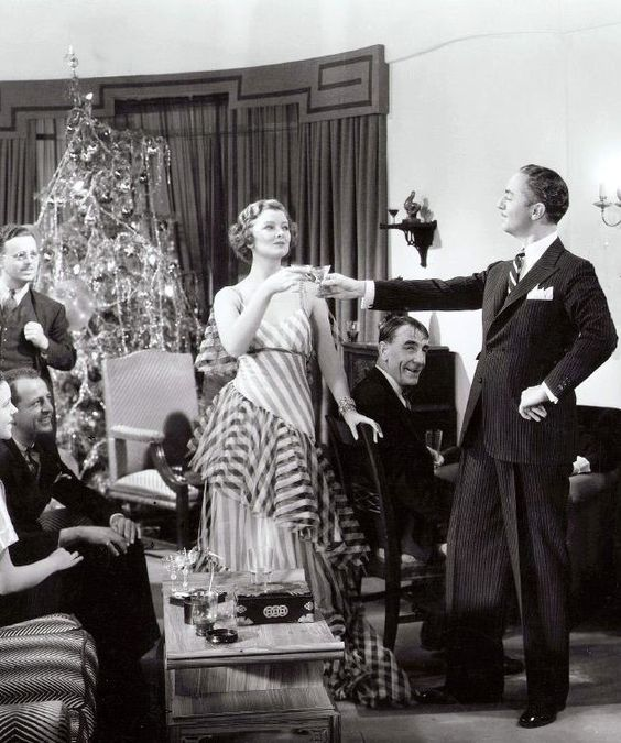"""Myrna Loy & William Powell in The Thin Man (1934, dir. Woody Van Dyke) (via) She grinned at me. """"You got types?"""" """"Only you, darling - lanky brunettes with wicked jaws."""" -Dashiell Hammett, The Thin Man (1929)"""