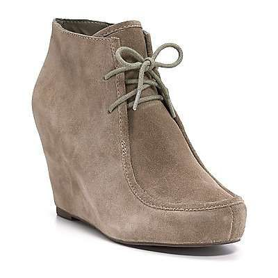wedge, lace-up, ankle boot