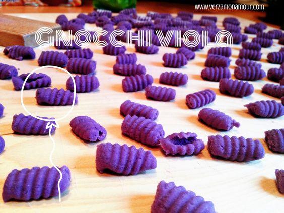 Gnocchi di patate viola e un primo piatto ~ Ricette di cucina - Le ricette di Verzamonamour.com