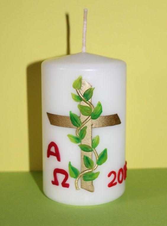 Osterkerze Ranke  Kerzen  Pinterest