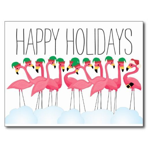 Happy Holiday Flamingoes