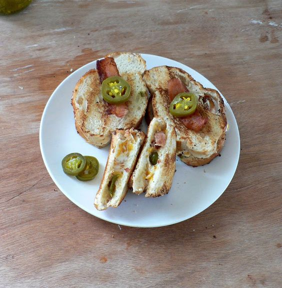 Jalapeno Popper Grilled Cheese Sandwich with Bacon - Bless This Mess